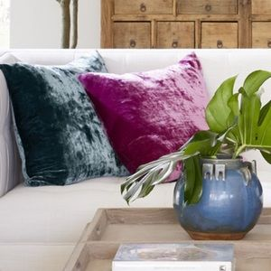{ Anthropologie } Velvet Throw Pillows